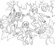 Coloring pages Fantastic Four-Handed Creatures