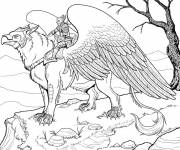 Coloring pages Fantastic hero on imaginary Eagle
