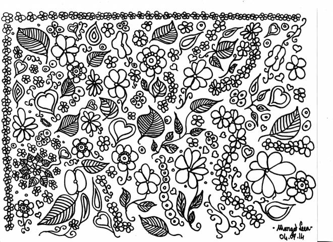 Free coloring and drawings A natural landscape for adults Coloring page
