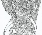 Coloring pages Adult Elephant Anti-stress