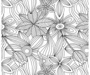 Coloring pages Adult Garden Flowers
