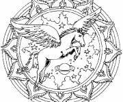 Coloring pages Adult Horse with Wings
