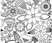 Coloring pages Anti-stress Adult Landscape