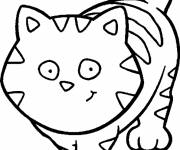 Coloring pages A Fat Cat to cut up