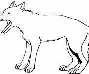 Free coloring and drawings An easy wolf Coloring page