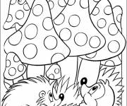 Free coloring and drawings Coloring forest Coloring page