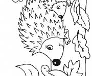 Free coloring and drawings Maternal hedgehog Coloring page