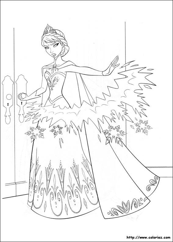 Free coloring and drawings Angry Frozen Coloring page