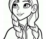 Coloring pages Anna The Sister of Elsa