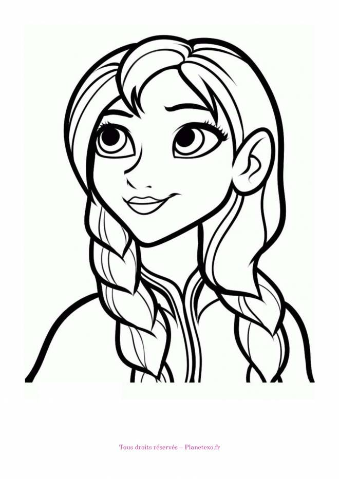 Free coloring and drawings Anna The Sister of Elsa Coloring page