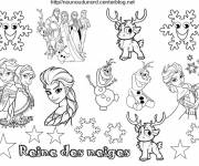 Free coloring and drawings Cartoon snow queen Coloring page