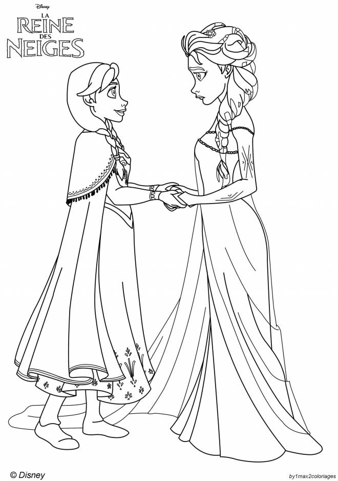 Free coloring and drawings Disney Frozen Coloring page