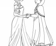 Free coloring and drawings Elsa and Anna Film Frozen Coloring page