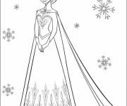 Coloring pages Elsa and Snowflakes