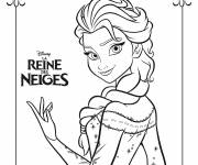 Free coloring and drawings Elsa the Frozen poster Coloring page