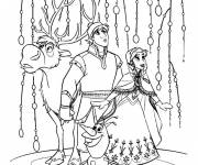 Coloring pages Fantastic Frozen and her friends