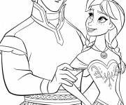 Coloring pages Frozen and Hans