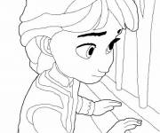 Coloring pages Frozen Childhood