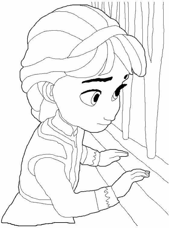 Free coloring and drawings Frozen Childhood Coloring page