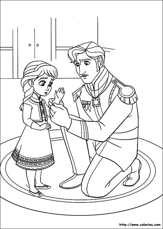 Free coloring and drawings Frozen for children Coloring page