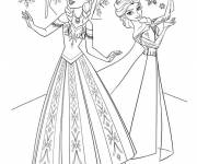 Coloring pages Frozen Movie