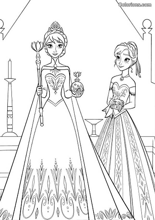 Free coloring and drawings Frozen online Coloring page
