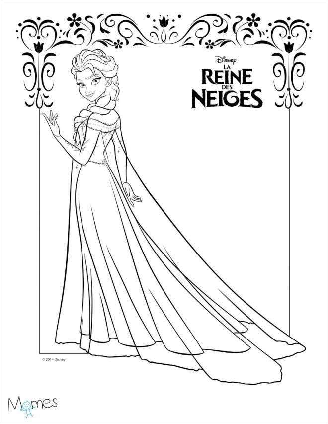 Free coloring and drawings Frozen to cut Coloring page
