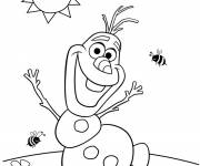 Coloring pages Humorous olaf in summer