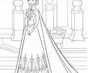 Coloring pages Princess Elsa