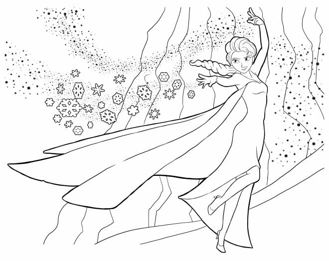 Free coloring and drawings The Frozen Coloring page