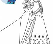 Coloring pages The Frozen Movie Heroines