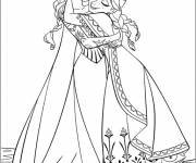 Free coloring and drawings The Snow Queen and Her Mother Coloring page