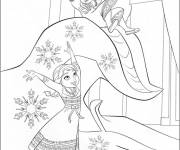 Coloring pages The two little Princess amused