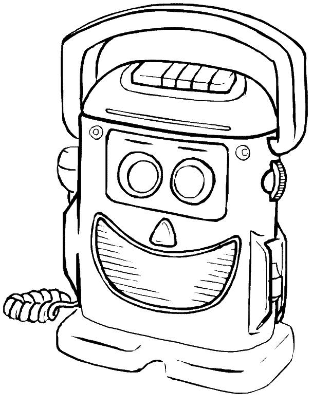 Free coloring and drawings A Funny Robot Coloring page