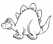 Free coloring and drawings Funny Dinosaur Coloring page