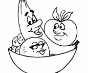 Free coloring and drawings Funny fruits Coloring page