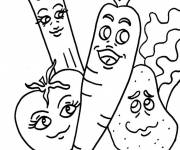 Free coloring and drawings Funny Vegetables Coloring page