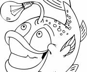 Free coloring and drawings Humorous bright fish Coloring page