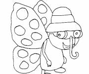 Coloring pages A funny butterfly