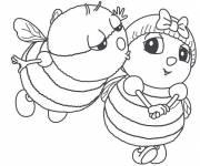 Coloring pages Bees in love