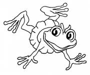 Coloring pages Frog wearing funny skirt
