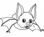 Coloring pages Funny bat