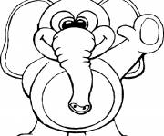 Coloring pages Funny elephant greets you