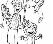 Coloring pages Funny scene in color