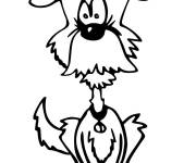 Coloring pages Humorous dog