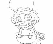 Coloring pages Stylized fun clawn