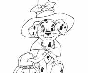 Free coloring and drawings 101 Dalmatiens Halloween Coloring page