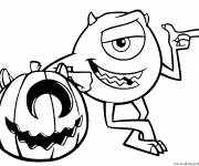Free coloring and drawings Disney Halloween Pumpkin Monster inc Coloring page
