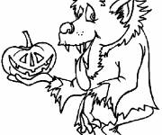 Coloring pages Fun werewolf drawing