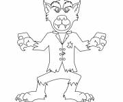 Coloring pages funny werewolf